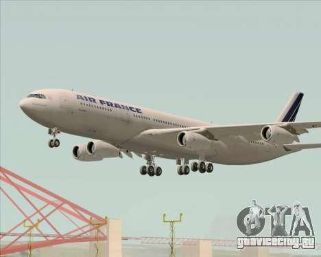 Airbus A340-313 Air France (Old Livery) для GTA San Andreas двигатель