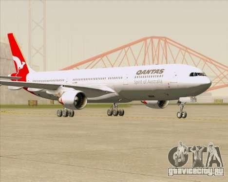 Airbus A330-300 Qantas для GTA San Andreas вид сзади слева