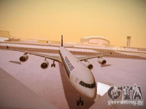 Airbus A340-600 Singapore Airlines для GTA San Andreas вид слева