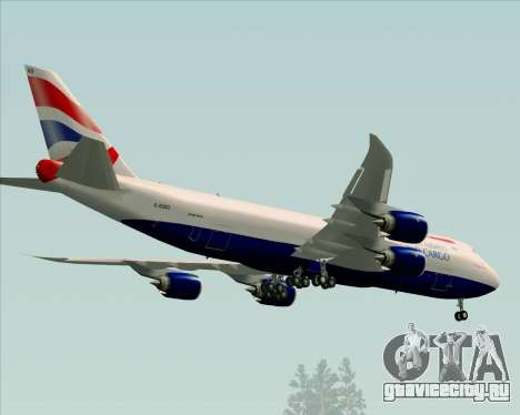 Boeing 747-8 Cargo British Airways World Cargo для GTA San Andreas вид сбоку