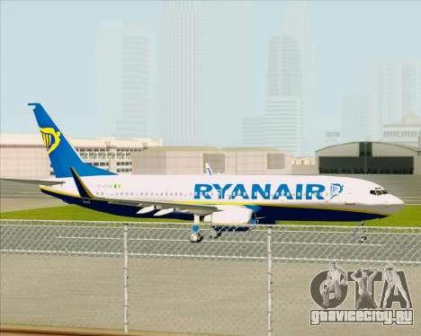 Boeing 737-8AS Ryanair для GTA San Andreas вид сзади