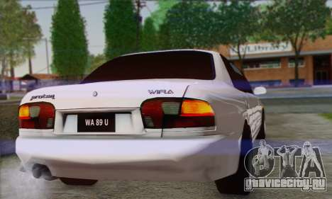 Proton Wira Official Malaysian Limousine для GTA San Andreas вид справа