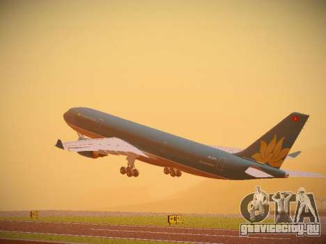 Airbus A330-200 Vietnam Airlines для GTA San Andreas вид сзади