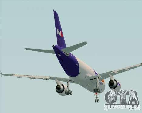 Airbus A310-300 Federal Express для GTA San Andreas вид сверху