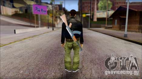 Shades and Gun Claude v1 для GTA San Andreas второй скриншот