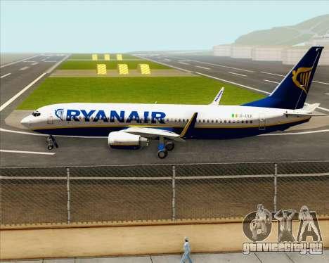 Boeing 737-8AS Ryanair для GTA San Andreas вид изнутри