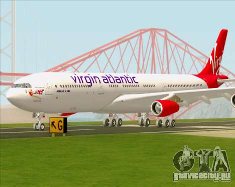 Airbus A340-313 Virgin Atlantic Airways для GTA San Andreas вид сверху