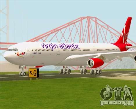 Airbus A340-313 Virgin Atlantic Airways для GTA San Andreas вид сверху