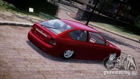Lada Priora Coupe для GTA 4 вид сзади