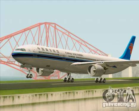 Airbus A330-300 China Southern Airlines для GTA San Andreas вид слева
