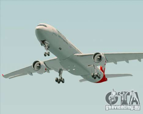 Airbus A330-300 Qantas для GTA San Andreas вид сверху