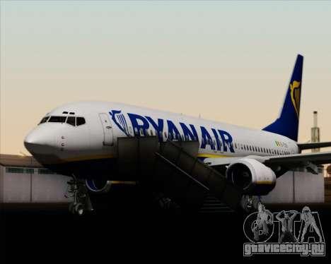 Boeing 737-8AS Ryanair для GTA San Andreas колёса