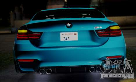 BMW M4 2014 для GTA San Andreas вид справа