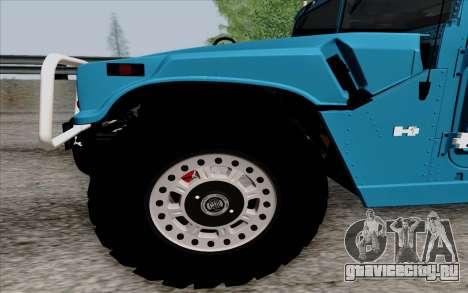 Hummer H1 Alpha 2006 Road version для GTA San Andreas вид слева