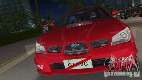 Subaru Impreza WRX STI 2006 Type 1 для GTA Vice City вид сзади