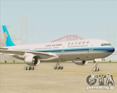 Airbus A330-300 China Southern Airlines для GTA San Andreas вид сзади слева