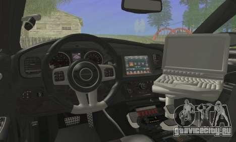Dodge Charger ViPD 2012 для GTA San Andreas вид сзади слева