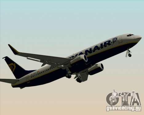 Boeing 737-8AS Ryanair для GTA San Andreas вид снизу