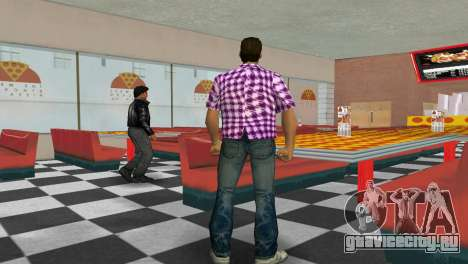 Kockas polo - rozsaszin T-Shirt для GTA Vice City третий скриншот