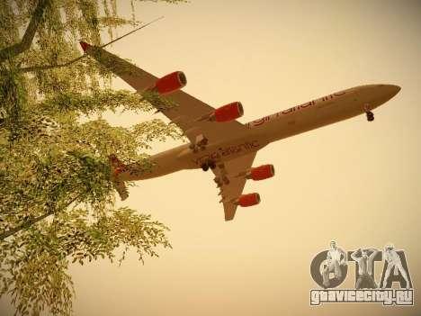 Airbus A340-600 Virgin Atlantic New Livery для GTA San Andreas вид сбоку