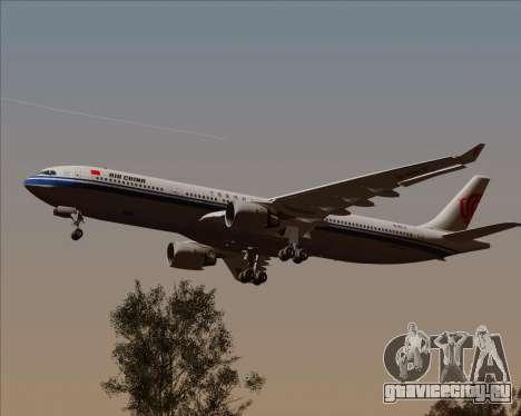 Airbus A330-300 Air China для GTA San Andreas вид изнутри