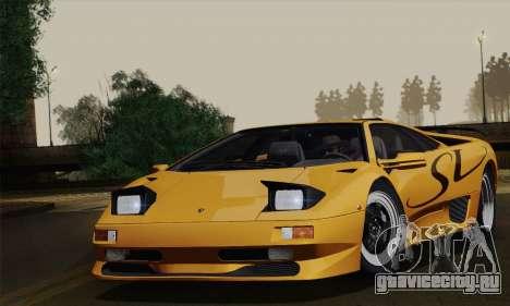 Lamborghini Diablo SV 1995 (ImVehFT) для GTA San Andreas вид сзади слева