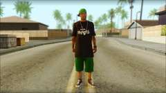 New Grove Street Family Skin v3 для GTA San Andreas