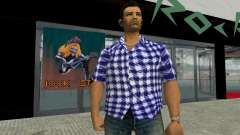 Kockas polo - sotetkek T-Shirt для GTA Vice City