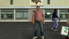Kockas polo - piros T-Shirt для GTA Vice City