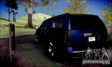 Cadillac Escalade Ninja для GTA San Andreas вид сзади