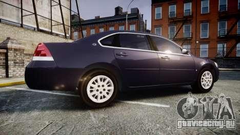 Chevrolet Impala 2010 Undercover [ELS] для GTA 4 вид слева