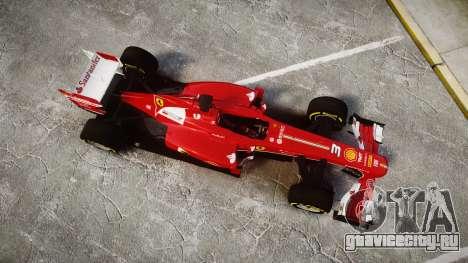 Ferrari F138 v2.0 [RIV] Alonso TSD для GTA 4 вид справа