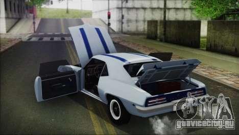 Pontiac Firebird Trans Am Coupe (2337) 1969 для GTA San Andreas вид изнутри