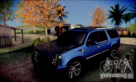 Cadillac Escalade Ninja для GTA San Andreas вид изнутри