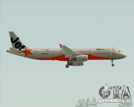 Airbus A321-200 Jetstar Airways для GTA San Andreas вид сбоку