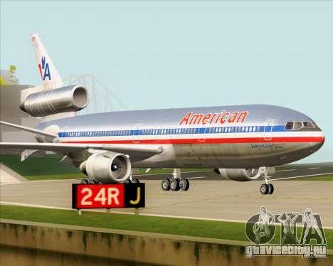 McDonnell Douglas DC-10-30 American Airlines для GTA San Andreas вид изнутри