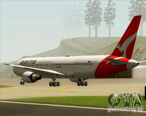 Boeing 767-300ER Qantas (New Colors) для GTA San Andreas вид изнутри