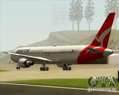 Boeing 767-300ER Qantas (New Colors) для GTA San Andreas вид изнутри