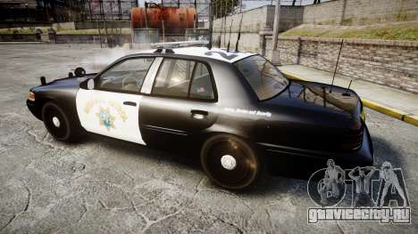Ford Crown Victoria CHP CVPI Liberty [ELS] для GTA 4 вид слева