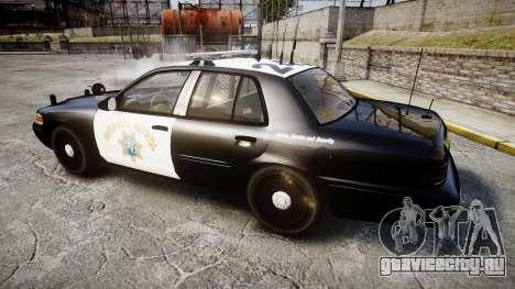 Ford Crown Victoria CHP CVPI Liberty [ELS] для GTA 4 вид слева