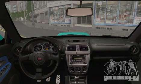 Subaru Impreza RC для GTA San Andreas вид сзади слева