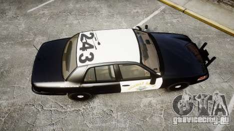 Ford Crown Victoria CHP CVPI Slicktop [ELS] для GTA 4 вид справа