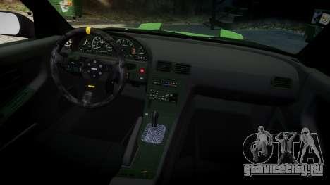 Nissan 240SX S13 Tuned для GTA 4 вид изнутри