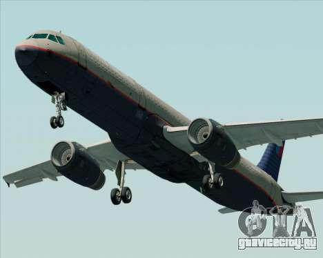 Airbus A321-200 United Airlines для GTA San Andreas вид изнутри