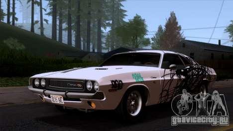 Dodge Challenger 426 Hemi (JS23) 1970 (ImVehFt) для GTA San Andreas вид снизу