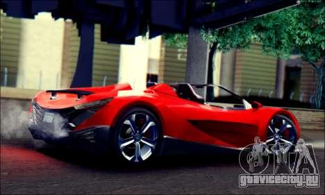 Specter Roadster 2013 (SA Plate) для GTA San Andreas вид слева