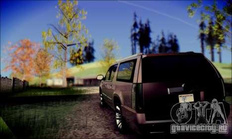 Cadillac Escalade Ninja для GTA San Andreas вид сзади слева
