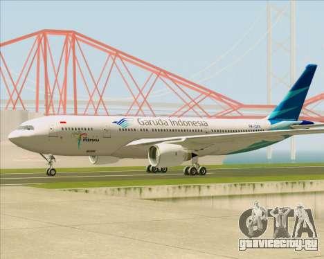 Airbus A330-243 Garuda Indonesia для GTA San Andreas вид сзади слева