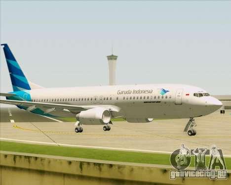 Boeing 737-800 Garuda Indonesia для GTA San Andreas вид сзади