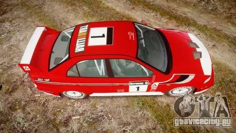 Mitsubishi Lancer Evolution VI 2000 Rally для GTA 4 вид справа